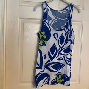 Old Navy Blue/white sleeveless top